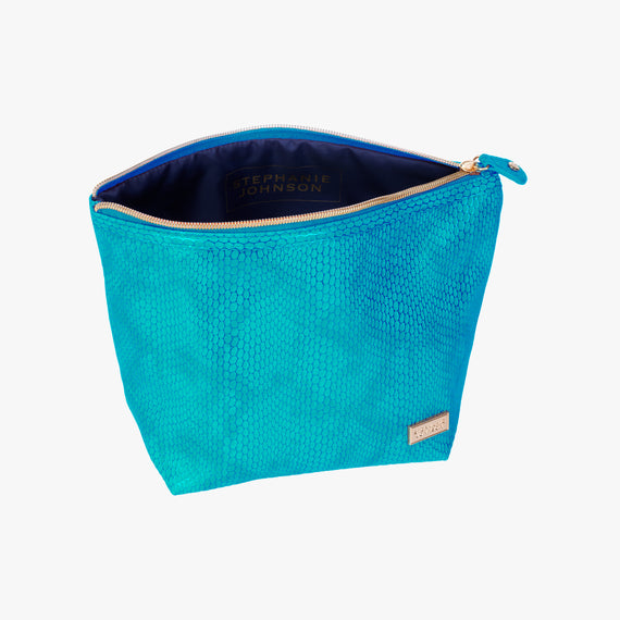 Laura Large Trapezoid Bag - Havana Havana Laura Trapezoid Bag in Blue open view in  in Color:Blue in  in Description:Open Detail