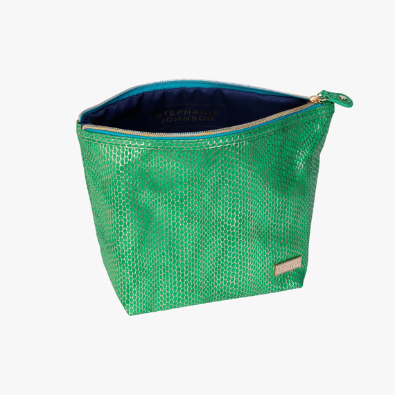 Laura Large Trapezoid Bag - Havana Havana Laura Trapezoid Bag in Green open view in  in Color:Green in  in Description:Open Detail