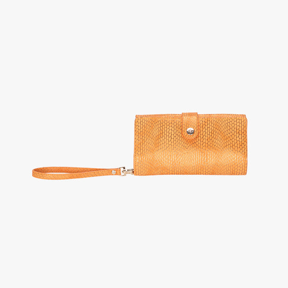 Jane Wristlet Tech Wallet - Havana Havana Jane Wristlet Tech Wallet in Orange main view in  in Color:Orange in  in Description:Front