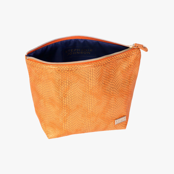 Laura Large Trapezoid Bag - Havana Havana Laura Trapezoid Bag in Orange open view in  in Color:Orange in  in Description:Open Detail