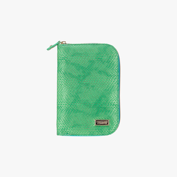 Julianna Jewelry Case - Havana Havana Julianna folding Jewelry Case in Green main view in  in Color:Green in  in Description:Front