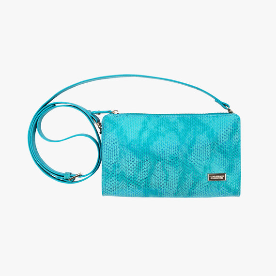 Leigh Crossbody - Havana Havana Leigh Crossbody wallet in blue main view in  in Color:Blue in  in Description:Front