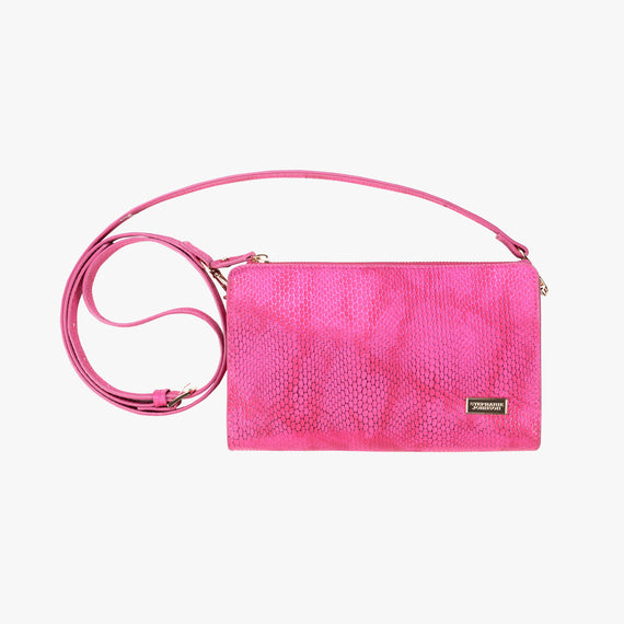 Leigh Crossbody - Havana Havana Leigh Crossbody wallet in Pink main view in  in Color:Pink in  in Description:Front