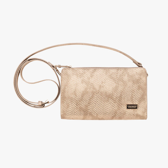 Leigh Crossbody - Havana Havana Leigh Crossbody wallet in sand main view in  in Color:Sand in  in Description:Front