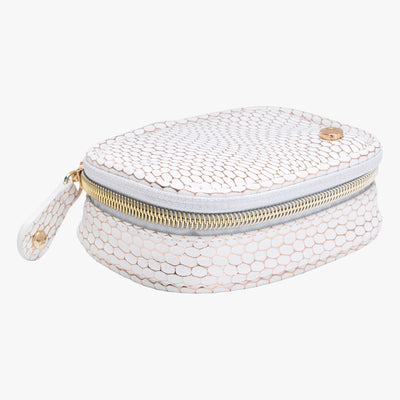 Havana Steph Tiny Treasure Case in White Quarterfront View~~Color:White~~Description:Front