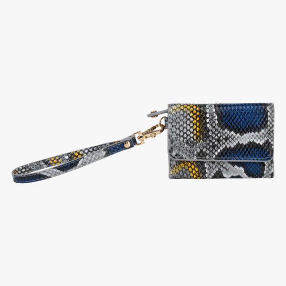 Loren Wristlet Wallet - Java Java Loren Wristlet Wallet in Blue Main View in  in Color:Blue in  in Description:Front