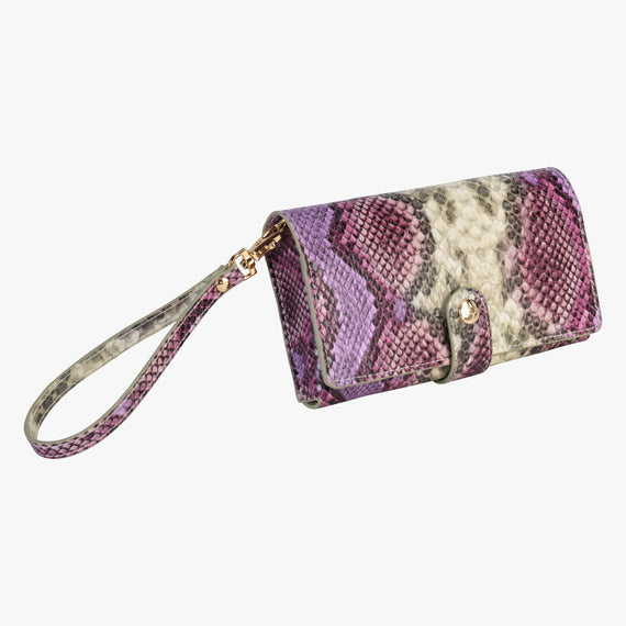Jane Wristlet Tech Wallet - Java Java Jane Wristlet Tech Wallet in Plum angle view in  in Color:Plum in  in Description:Angled View