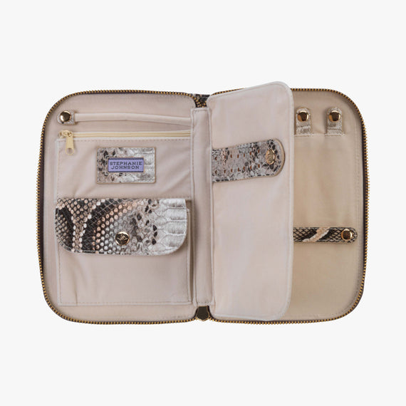 Julianna Jewelry Case - Java Java Julianna folding Jewelry Case in Coffee secondary open View in  in Color:Coffee in  in Description:Open Detail
