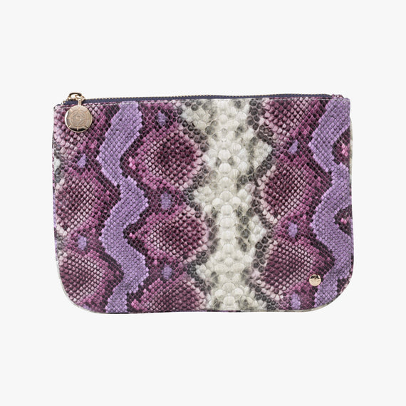 Large Flat Pouch Large Flat Pouch in Java - Plum Main View in  in Color:Java - Plum in  in Description:Front