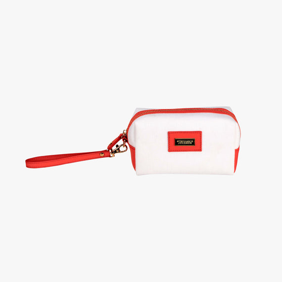 Iris Small Cosmetic Bag - Key West Key West Iris Small Cosmetic Bag in Poppy Red Main View in  in Color:Poppy Red in  in Description:Front