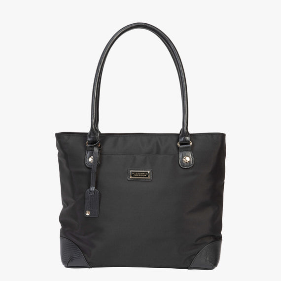 Travel Tote Manhattan Travel Tote in Black Front View in  in Color:Black in  in Description:Front