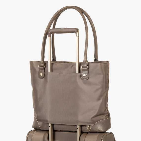 Travel Tote Stephanie Johnson Travel Tote in Mocha in  in Color:Mocha in  in Description:Backstrap
