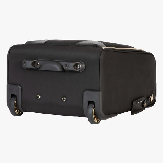 Small Carry-On Manhattan Under-Seat Carry-On in Black Three Quarter View in  in Color:Black in  in Description:Bottom