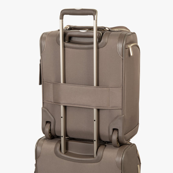Small Carry-On Stephanie Johnson Under-Seat Carry-On in Mocha in  in Color:Mocha in  in Description:Backstrap