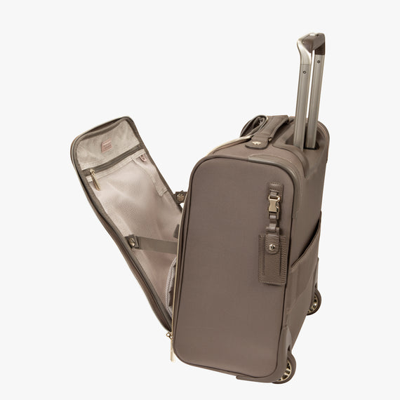 Small Carry-On Stephanie Johnson Under-Seat Carry-On in Mocha in  in Color:Mocha in  in Description:Open Detail