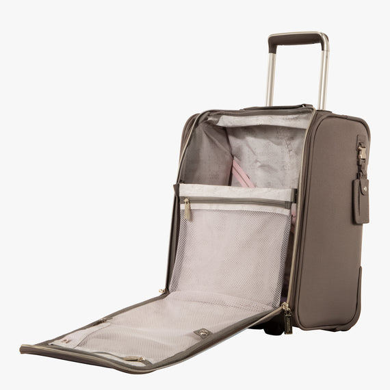 Small Carry-On Stephanie Johnson Under-Seat Carry-On in Mocha in  in Color:Mocha in  in Description:Opened