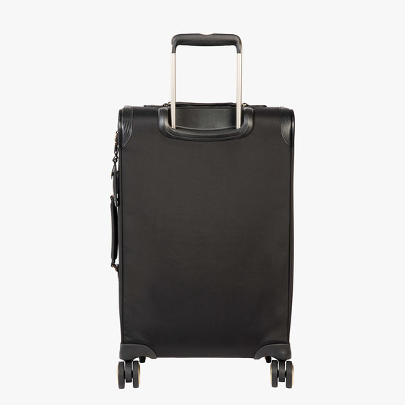 Carry-On Manhattan 21-Inch Carry-On Suitcase in Black Back View in  in Color:Black in  in Description:Back