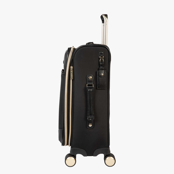 Carry-On Manhattan 21-Inch Carry-On Suitcase in Black Side View in  in Color:Black in  in Description:Side