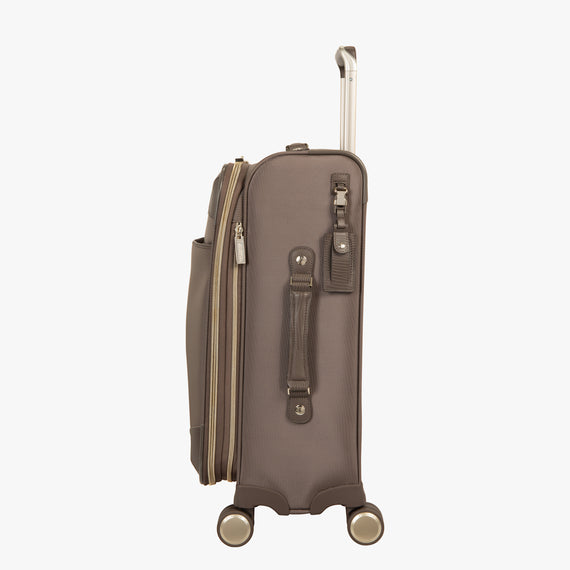Carry-On Stephanie Johnson 21-Inch Carry-On Suitcase in Mocha in  in Color:Mocha in  in Description:Side
