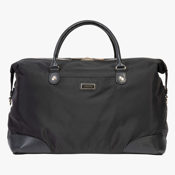 Weekender Duffel Manhattan Weekender Duffel in Black Front View in  in Color:Black in  in Description:Front