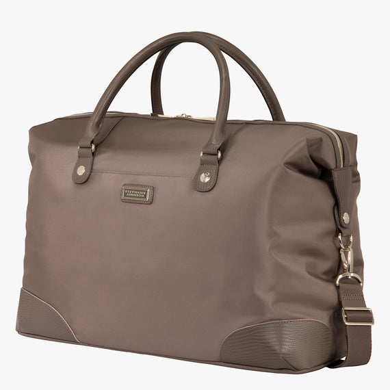 Weekender Duffel Stephanie Johnson Weekender Duffel in Mocha in  in Color:Mocha in  in Description:Angled View