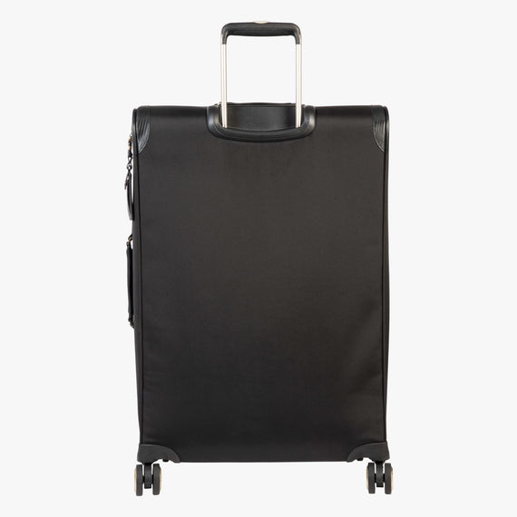 Medium Check-In Manhattan 26-Inch Check-In Suitcase in Black Back View in  in Color:Black in  in Description:Back
