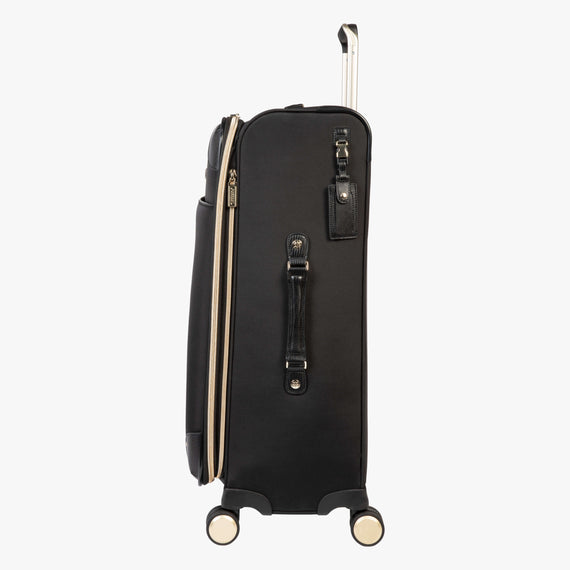 Medium Check-In Manhattan 26-Inch Check-In Suitcase in Black Side View in  in Color:Black in  in Description:Side