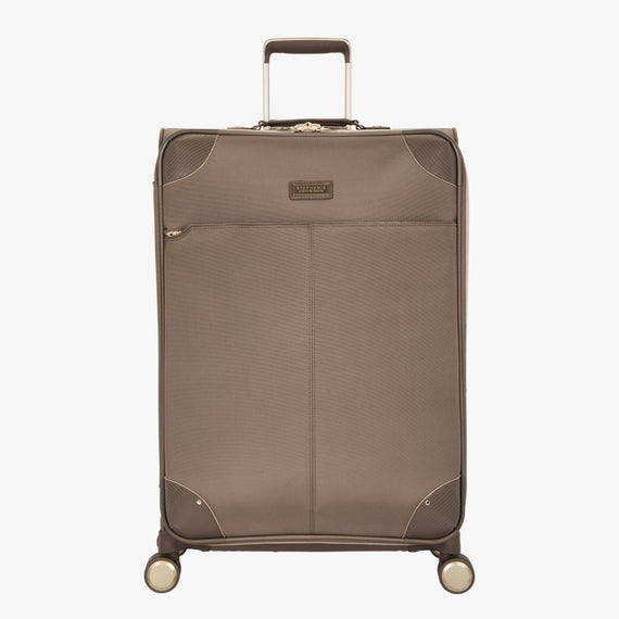 Medium Check-In Stephanie Johnson 26-Inch Check-In Suitcase in Mocha in  in Color:Mocha in  in Description:Front