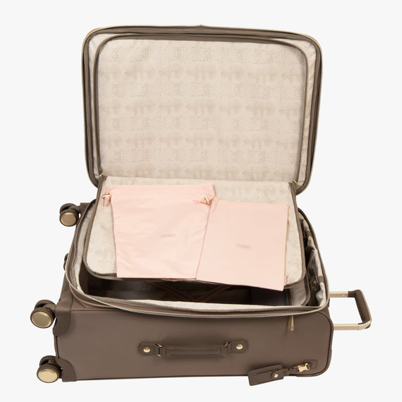 Medium Check-In Stephanie Johnson 26-Inch Check-In Suitcase in Mocha in  in Color:Mocha in  in Description:Open Detail