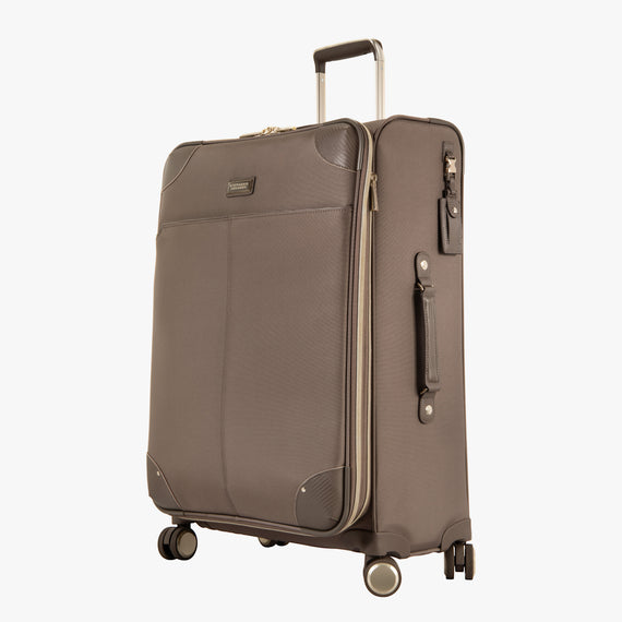 Medium Check-In Stephanie Johnson 26-Inch Check-In Suitcase in Mocha in  in Color:Mocha in  in Description:Angled View