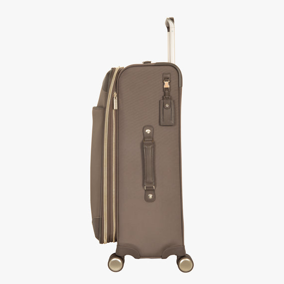 Medium Check-In Stephanie Johnson 26-Inch Check-In Suitcase in Mocha in  in Color:Mocha in  in Description:Side
