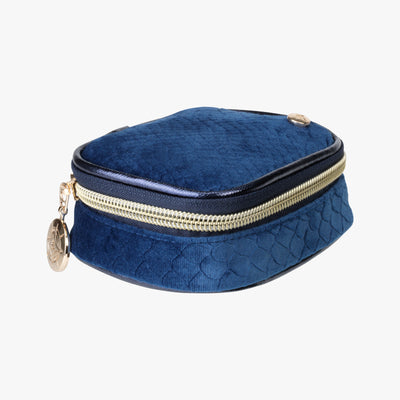 Marais Steph Tiny Treasure Case in Blue Quarterfront View~~Color:Blue~~Description:Front