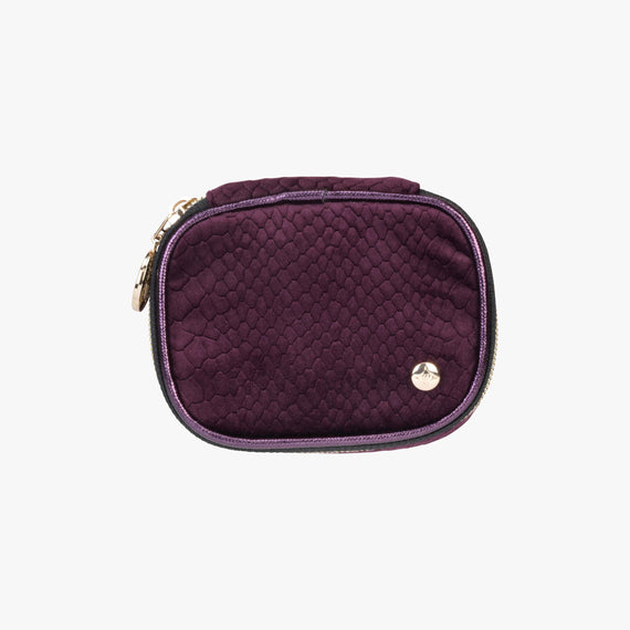 Steph Tiny Treasure Case - Marais Marais Steph Tiny Treasure Case in Plum main view in  in Color:Plum in  in Description:Top