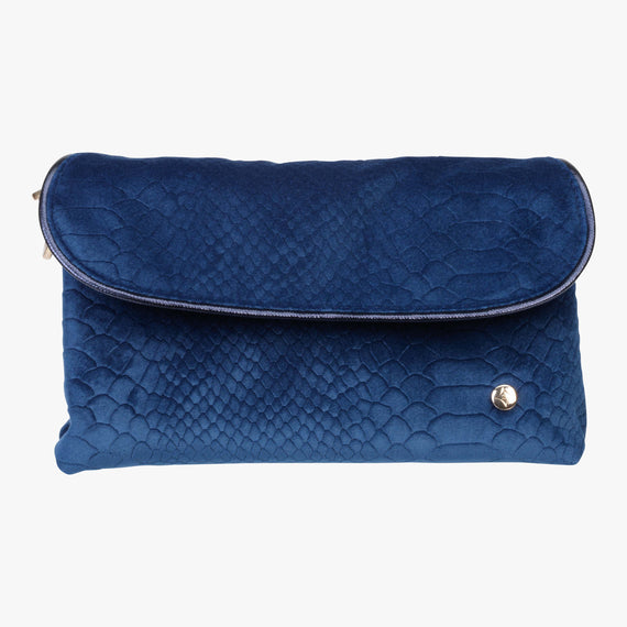 Katie Folding Cosmetic Bag - Marais Marais Katie Folding Cosmetic Bag in Blue main view in  in Color:Blue in  in Description:Front