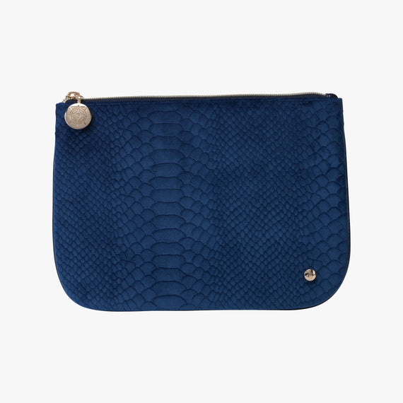 Large Flat Pouch Large Flat Pouch in Marais - Blue main view in  in Color:Marais - Blue in  in Description:Front