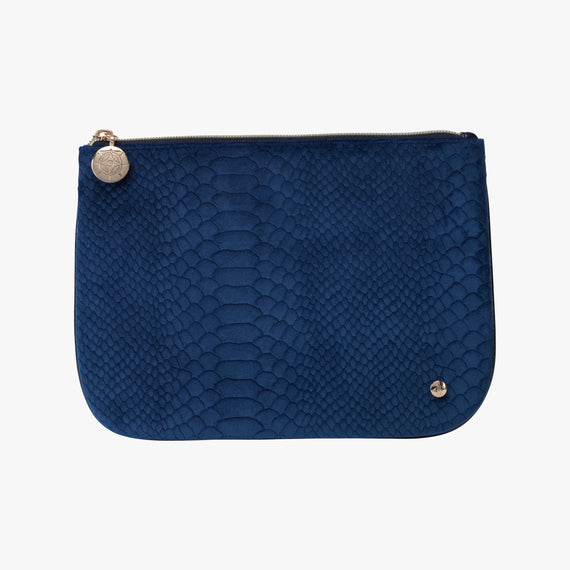 Large Flat Pouch - Marais Marais Large Flat Pouch in Blue main view in  in Color:Blue in  in Description:Front