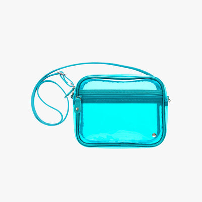 Miami Camera Crossbody Bag in Blue main view~~Color:Blue~~Description:Front