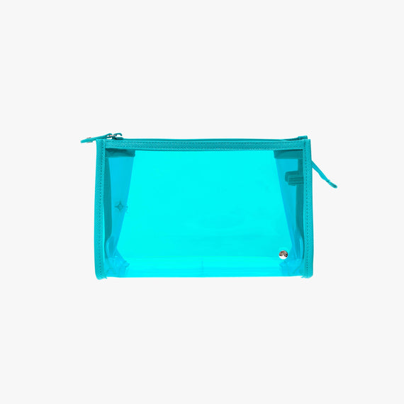 Medium Zip Cosmetic Case - Miami Miami Medium Zip Cosmetic Case in Blue main view in  in Color:Blue in  in Description:Front