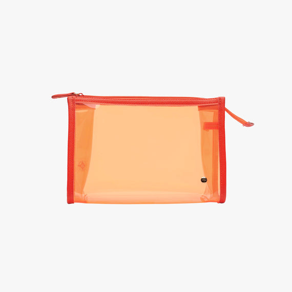 Medium Zip Cosmetic Case - Miami Miami Medium Zip Cosmetic Case in Orange main view in  in Color:Orange in  in Description:Front