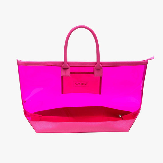 Carry-All Tote Bag - Miami Carry-All Tote Bag in Miami - Fuchsia main view in  in Color:Miami - Fuchsia in  in Description:Front