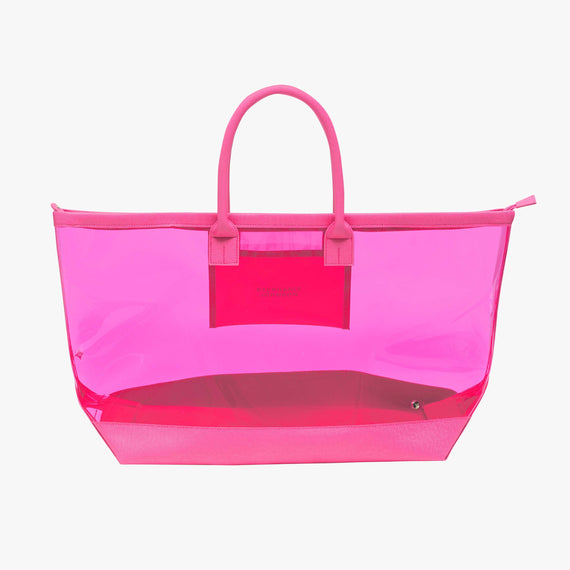 Carry-All Tote Bag - Miami Carry-All Tote Bag in Miami - Neon Pink main view in  in Color:Miami - Neon Pink in  in Description:Front