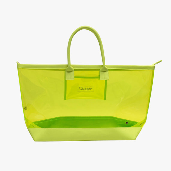 Carry-All Tote Bag - Miami Carry-All Tote Bag in Miami - Neon Yellow main view in  in Color:Miami - Neon Yellow in  in Description:Front