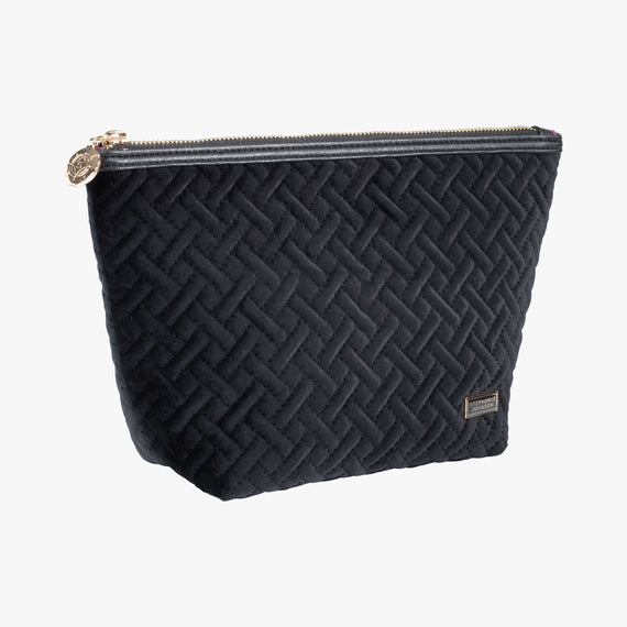 Laura Large Trapezoid Bag - Milan Milan Laura Large Trapezoid in Black Quarterfront View in  in Color:Black in  in Description:Angled View