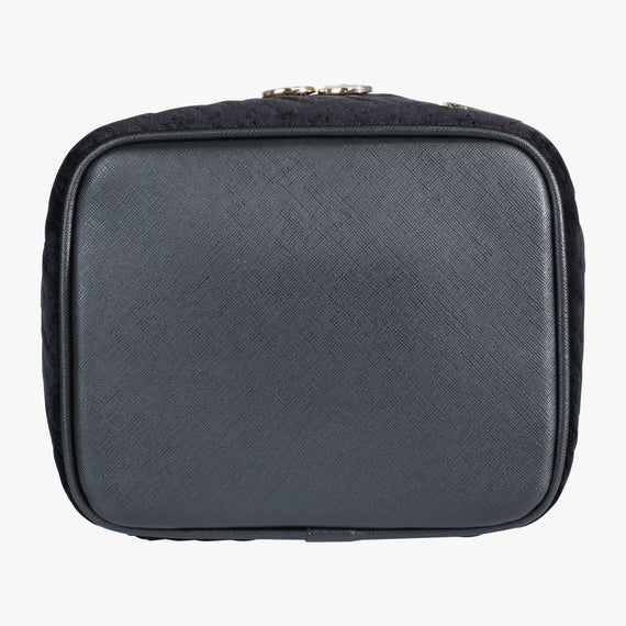 Louise Travel Case - Milan Milan Louise Travel Case in Black Bottom View in  in Color:Black in  in Description:Bottom