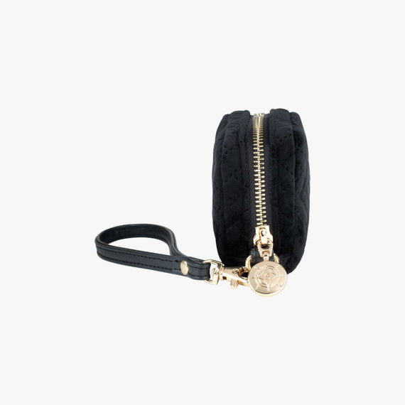 Mini Pouch Wristlet - Milan Milan Mini Pouch Wristlet in Black Side View in  in Color:Black in  in Description:Side