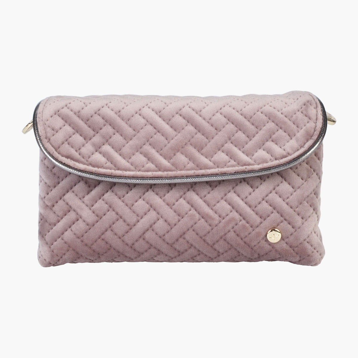 ... Katie Folding Cosmetic Bag Katie Folding Cosmetic in Milan - Dusty Plum  Front View in in ... cff05354d4f7a