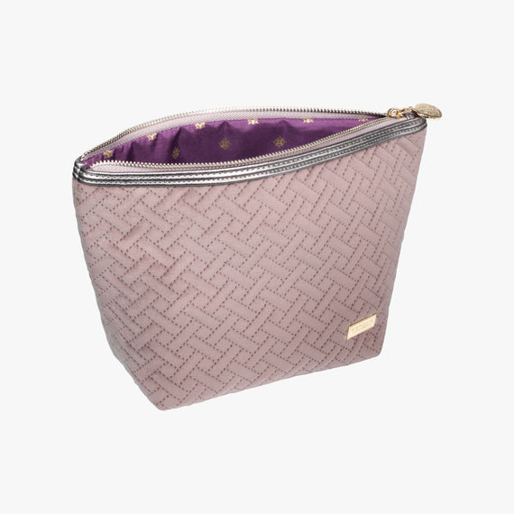 Laura Large Trapezoid Bag - Milan Milan Laura Large Trapezoid in Dusty Plum Secondary Open View in  in Color:Dusty Plum in  in Description:Open Detail