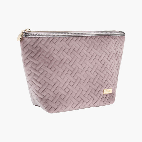 Laura Large Trapezoid Bag Laura Large Trapezoid Bag in Milan - Dusty Plum Quarterfront View in  in Color:Milan - Dusty Plum in  in Description:Angled View