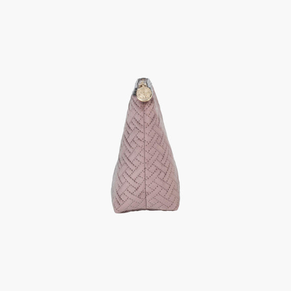 Laura Large Trapezoid Bag Laura Large Trapezoid Bag in Milan - Dusty Plum Side View in  in Color:Milan - Dusty Plum in  in Description:Side