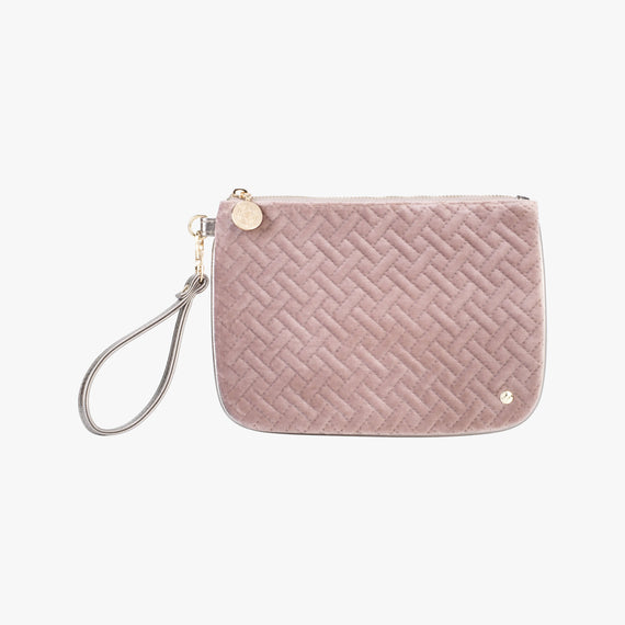 Large Flat Wristlet - Milan Milan Large Flat Wristlet in Dusty Plum Front View in  in Color:Dusty Plum in  in Description:Front